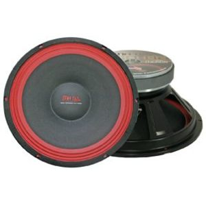 Mr. Dj PA118 Subwoofer, Black/Red