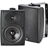Athena AS-06 2-Way Outdoor Speakers with Brackets, Matte Black (Pair)