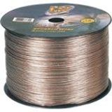 GSI 18 Gauge Clear Stranded Speaker Wire, 1000 Feet.