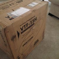 Arrival of the HSU VTF15 Subwoofer