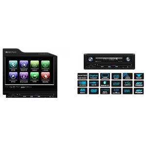 Soundstream VIR8310NRB 8.3-Inch Flip Up TFeet -LCD AV Receiver