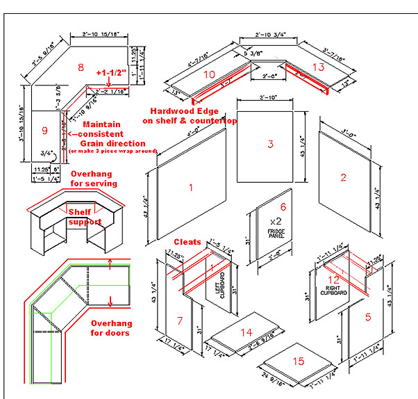 Free bar plans and layouts pdf woodworking for Design basement layout online free