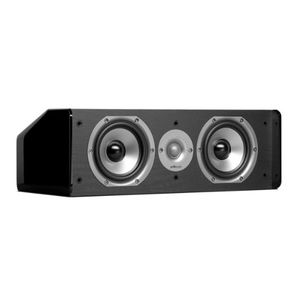 Polk Audio CS10 Center Channel Speaker (Single, Black) with Mini Tool Box (fs)