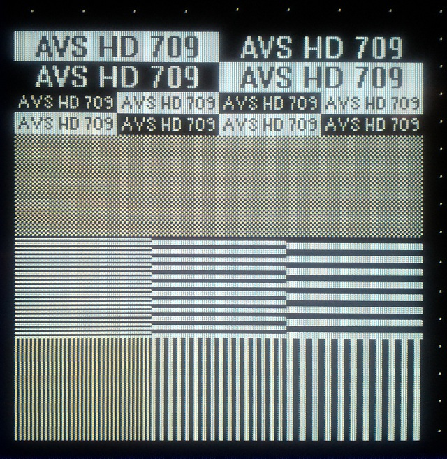 AVS HD   Basic Test Patterns - Color and Overscan - YouTube