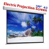 Angel Canada 100 inch 4:3 Electric Projector Projection Screen Automatic Remote Control Motorized