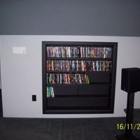 Built in dvd rack
