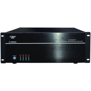 PYLE PT8000CH Rack Mount 8000-Watt 8 Channel Stereo/Mono Amplifier