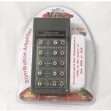 Audio Video Distribution Amplifier RCA Video Splitter Video Composite Signal Amp 1 Input to 4 Outputs Uninex Vs-23
