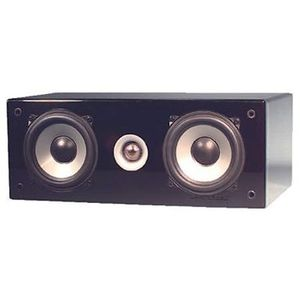 Two Way Center Channel Speaker System Dual Poly Cone 5-1/4inch Woofers Rubber Surrounds