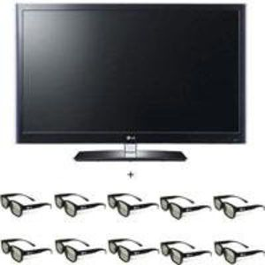 LG 55LW5600 55 inch Class 3D LED TV, Full HD 1080p Resolution - Includes 10 Pairs of LG 3D glasses