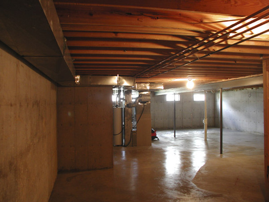 basement exposed ceiling painted black avs forum home theater