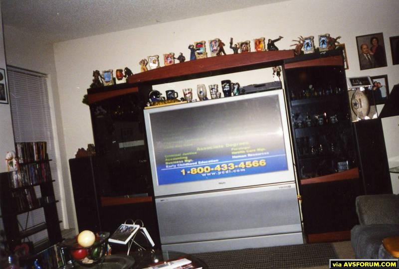 55 inch philips HD T.V. with sony surround sound and a philips progressive scan dvd player