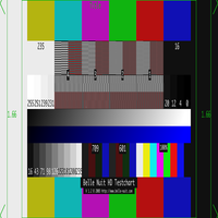 1920 by 1080 test pattern resized horizontally