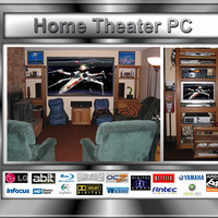 Infocus projector, Home theater PC with Vista media center and LG bluray + HD-DVD drive, Xbox 360, oppo DVD player, Yamaha Reciever, Comcast DVR, Axiom 5.1 Speakers setup, Olevia LCD, Captain fantastic Pinball