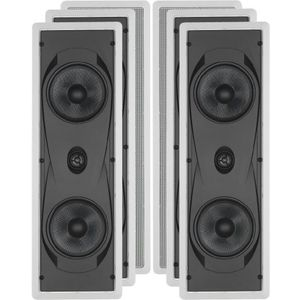"Yamaha Natural Sound Custom Easy-to-install In-Wall Flush Mount 2-Way 130 watts Speaker (Set of 4) with 1"" Soft Dome Tweeter & Dual 6.5"" Cone Woofers for Enhanced Center Channel or In-Wall Speaker Sound From Your Plasma LCD Big Screen TV or"
