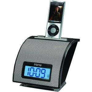 IHOME IP11BVC IPHONE SPACE SAVER ALARM CLOCK (BLACK)