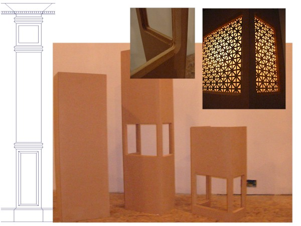 Columns drywall or mdf avs forum home theater for Mdf square columns
