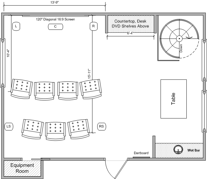 Media room remodel need floor plan feedback avs forum for House plans with media room