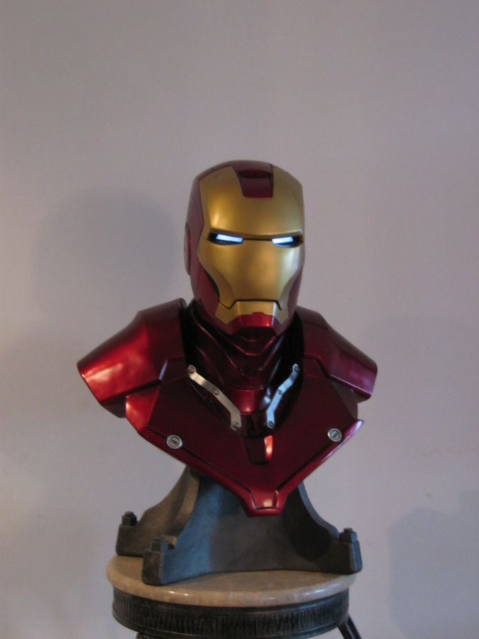 This is my 1:1 scale Iron Man bust.