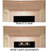 mounting speaker at the top of the fireplace how?
