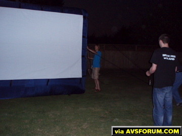 Outdoor Theater Screen