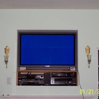 "Panasonic 42"" EDTV Plasma in the TV nook.   A Dish 6000 was later added."