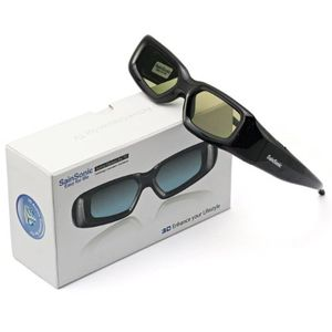 SainSonic 3D Rechargeable Infrared Active Shutter Glasses For Panasonic 3D HDTVs