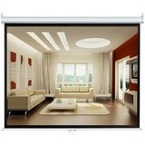 Pyle Home PRJSL84 84-Inch Manual Pull Down Self Locking Projector Screen Standard Format (4:3)