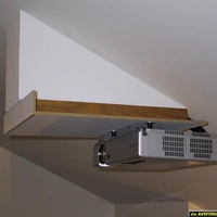 I built a sliding projector mount because my zoom does not get me from 16:9 to 4:3 at constant height.