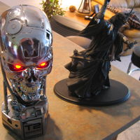 Sideshow Collectibles 1:1 scale Terminator Endo bust, and the Morgul Lord from LoTR