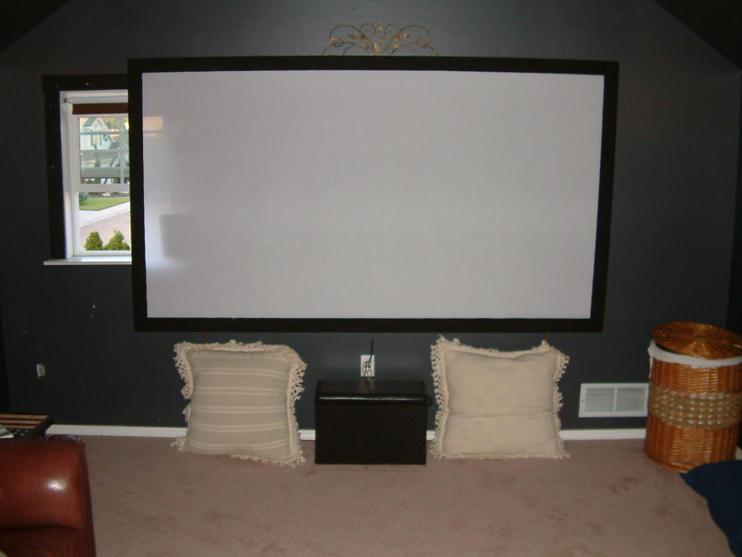 projector wall paintI built an acoustically transparent screen  AVS Forum  Home