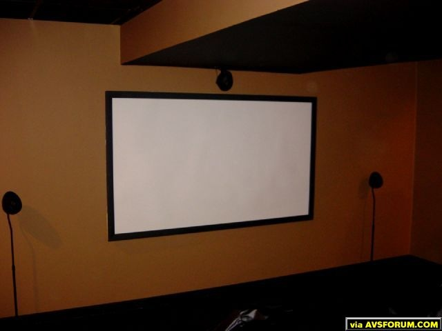 "The screen is 92"" of Parkland Plastic on a plywood frame."