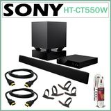 Sony HT-CT550W 3D Sound Bar Home Theater System with Wireless Subwoofer + Accessory Kit