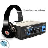 Mini Stereo 2x15W Power Amplifier w/ Speaker, Headphone and PA Output for Beats By Dr. Dre Solo / Bose / Sennheiser / Plantronics and Many More Headphones! **Includes Cleaning Kit **