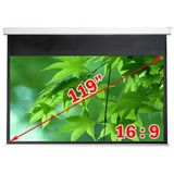"Antra Electric Motorized 119"" 16:9 Projector Projection Screen Matte White"