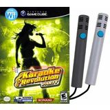 Karaoke Revolution Party (includes 2 Microphones) for Wii and Gamecube - 2 Players Sing Simultaneous Duet