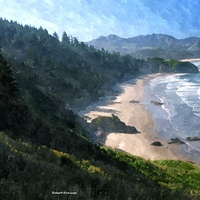 Ecola Vista, Oregon - Watercolor