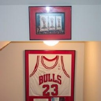 Sports memorabilia.  This is a replica jersey signed by MJ and framed in a really nice shadow box.