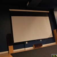 Home Theater in 1080p goodness 106 in screen 9 foot seating distance