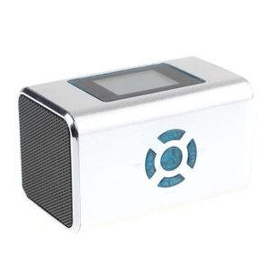 Mini Speaker MP3 Player Amplifier Micro SD TF Card USB Disk FM Radio Silver