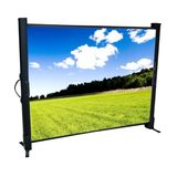 Certified Portable Tabletop Projection Screen, Black Frame-50inch Front Certified PTS50