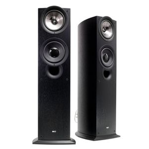 KEF iQ70BL Floor Standing Speaker (Single, Black)