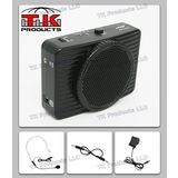 Aker Voice Amplifier 16watts Black MR2300 by TK Products, Portable, for Teachers, Coaches, Tour Guides, Presentations, Costumes, Etc.