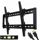 "VideoSecu Tilt TV Wall Mount Bracket for Most 32""- 65"" LED LCD Plasma TV Flat Panel Screen Free HDMI Cable and Magnetic Bubble Level MF607B 1QH"