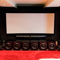 Adyton speakers, Jeff Rowland amps, Paradigm subs and Theta front-end.