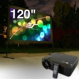 Elite Screens V20-OMS120H Yard Master Outdoor Projection Screen and V20 Projector Bundle