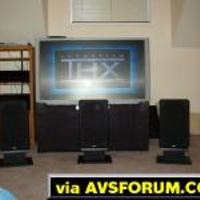 Rear projection is very flexible compared to a fixed home theater.