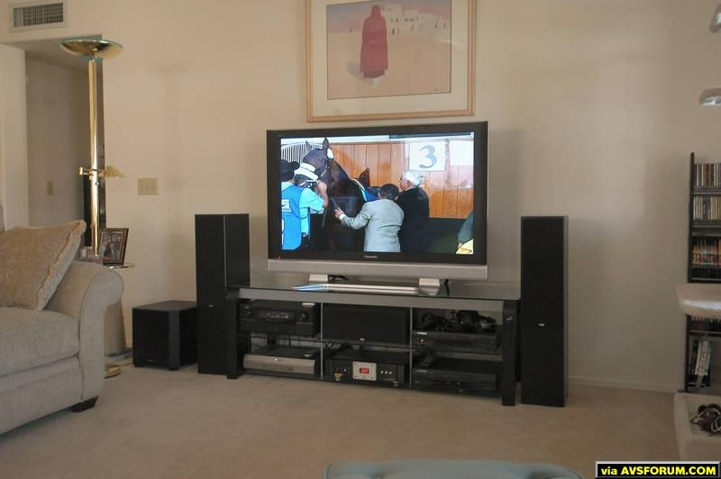 "Panasonic 50"" plasma with HD Directv receiver, Denon 3805 receiver and B&W speakers"