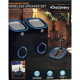 Discovery Expedition Indoor Outdoor Wireless Speaker Set Black