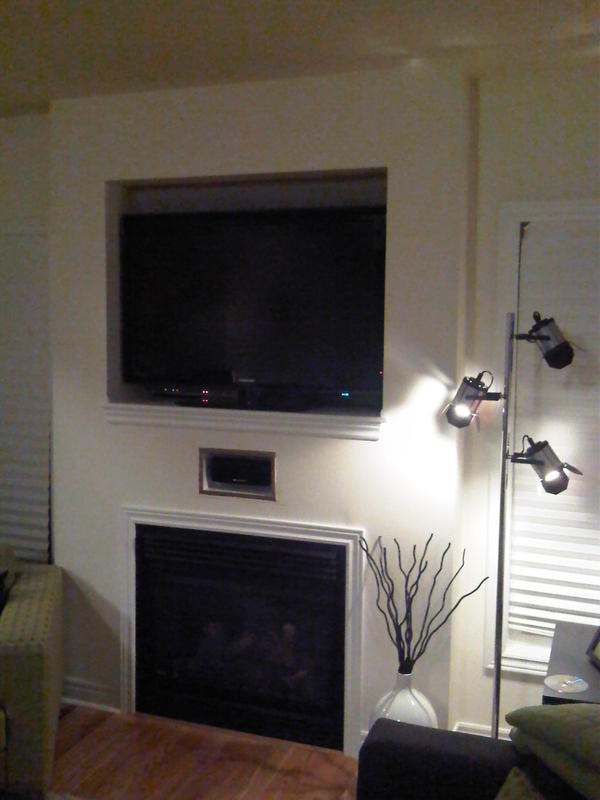 Center Channel Speaker: Recessed Above Fireplace - AVS ...